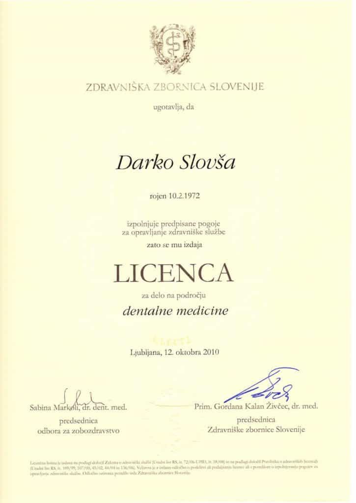 Licensa SLO Stomatolog