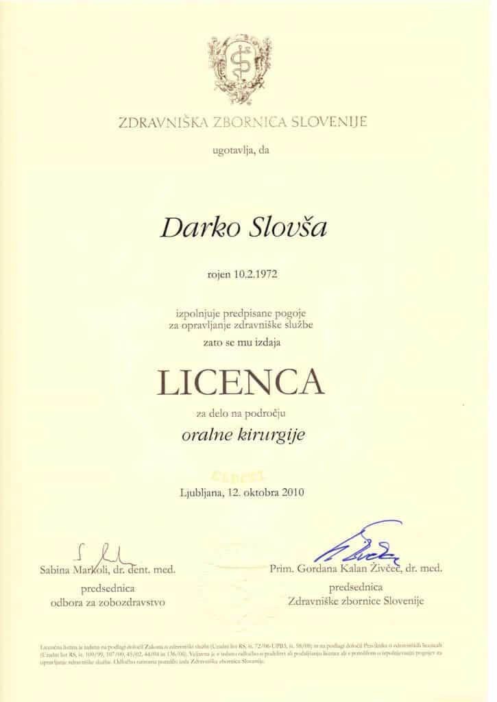 Licensa SLO Kirurg