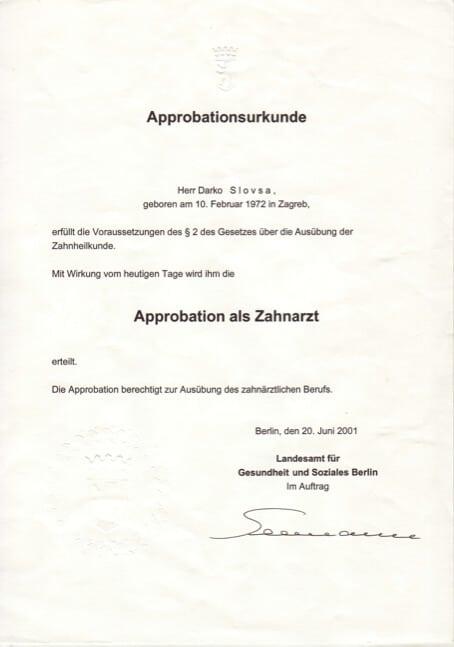 Diploma Stomatologije Njemačka