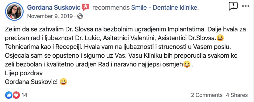 Recenzije za zubne implantate