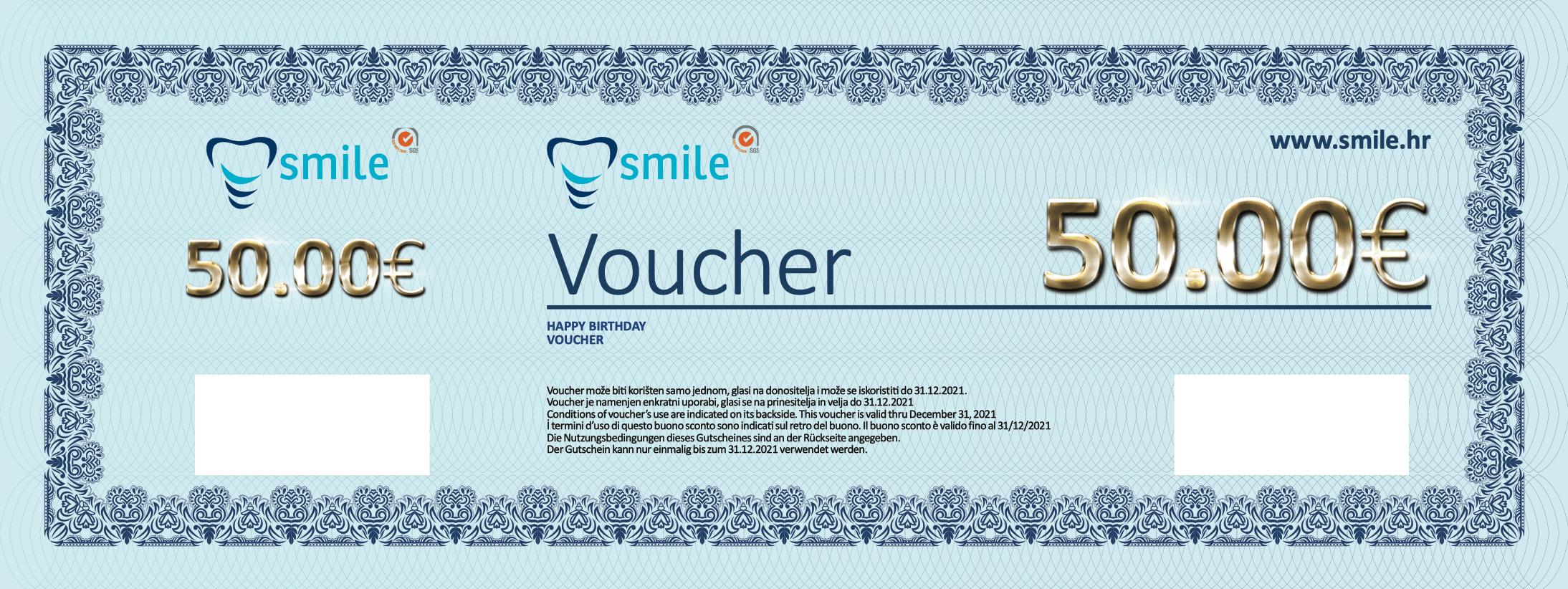 Voucher Smile 50€